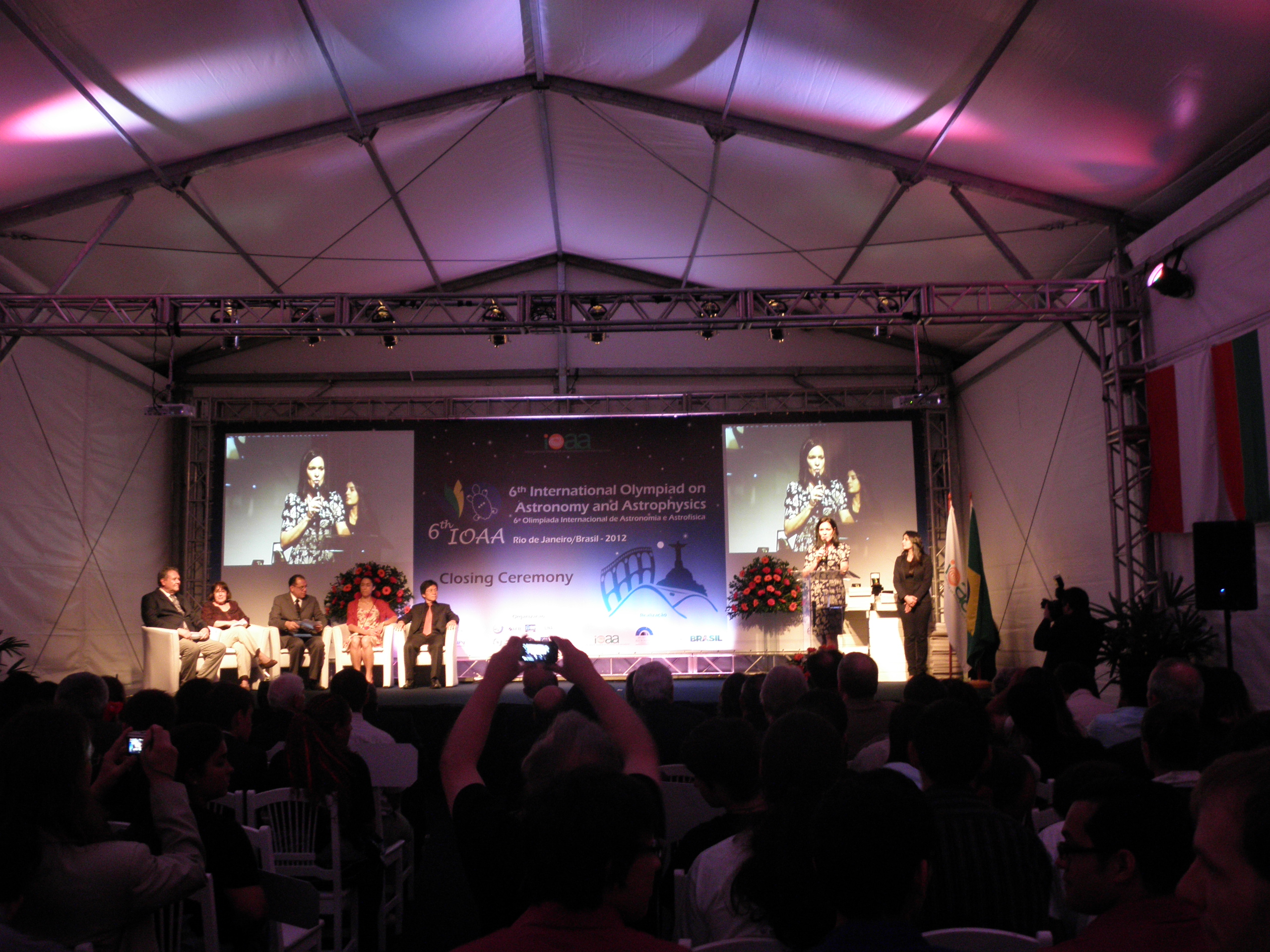Closing ceremony of IOAA 2012